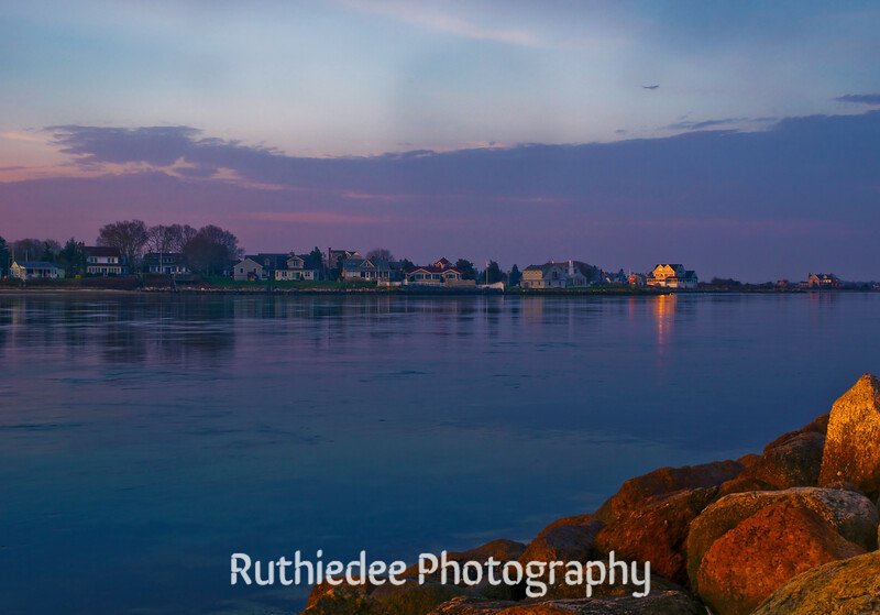 Toward the open arms of the sea... The Cape Cod Canal in early morning near Mass Maritime.