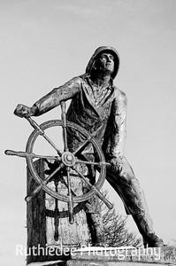 Looking homeward...  Famous statue in Gloucester, MA