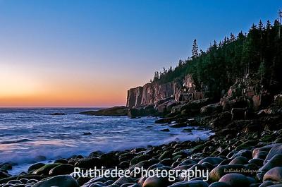 Otter Cliff at sunrise...