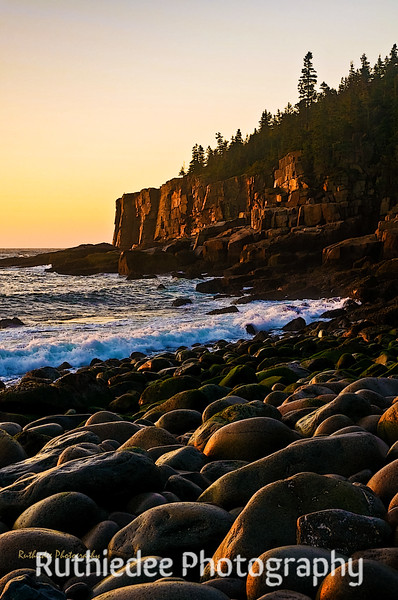 Morning glow on Otter Cliff...