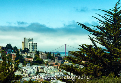 Golden Gate Bridge from Coit Tower...