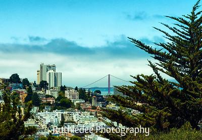 Golden Gate Bridge from Coit Tower...