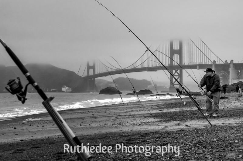 Fishing under the Golden Gate Bridge...