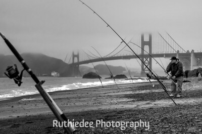 Fishing under the Golden Gate Bridge...