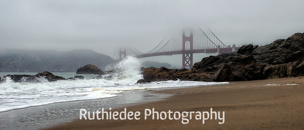 Baker's Beach under the Golden Gate Bridge...