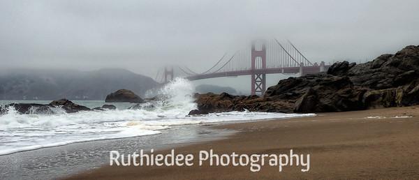 Baker's Beach under the Golden Gate Bridge...
