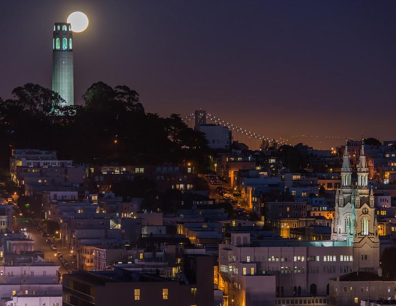 Moon Over Telegraph Hill