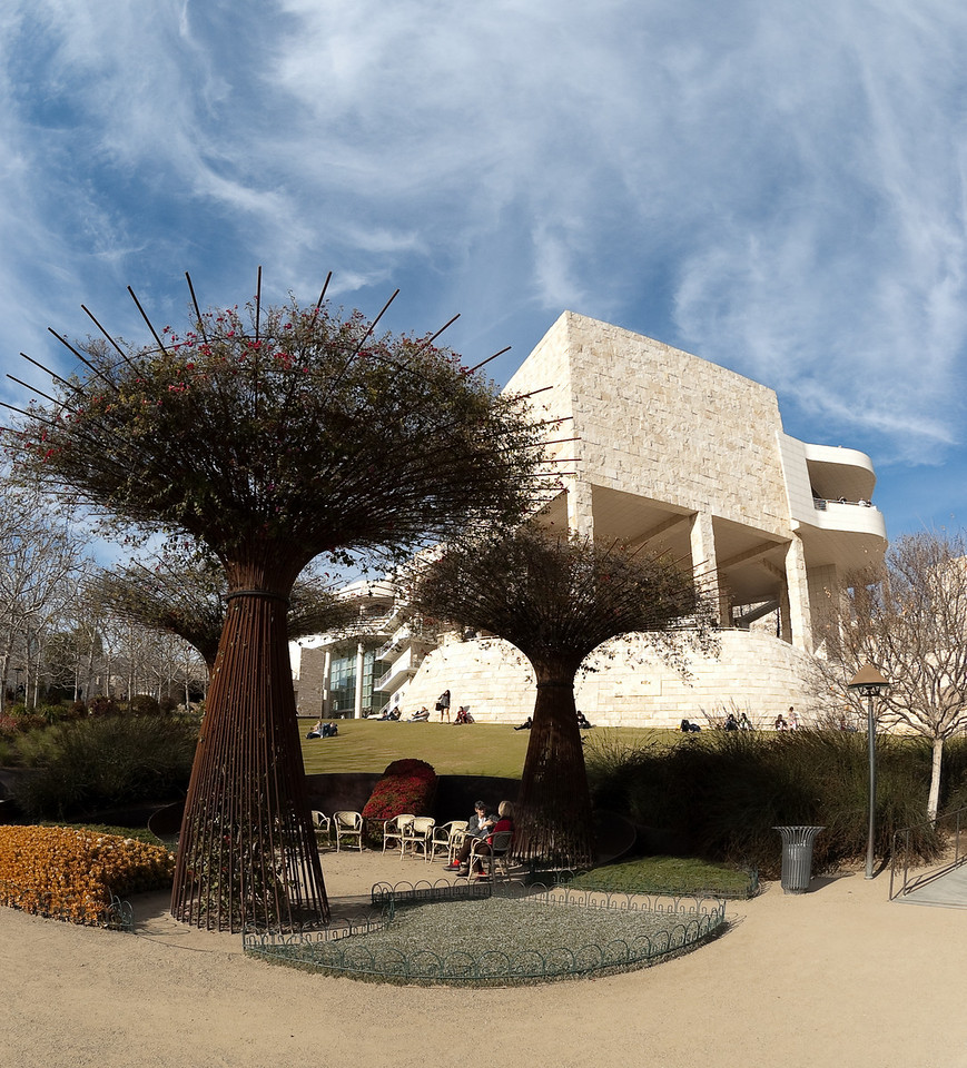 Tree at the Getty, fisheye<br /> © Harvey Cooper 2009