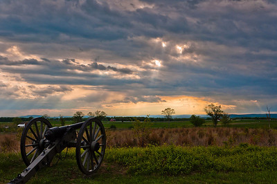 Cannon at Sunset, Gettysburg National Military Park, PA