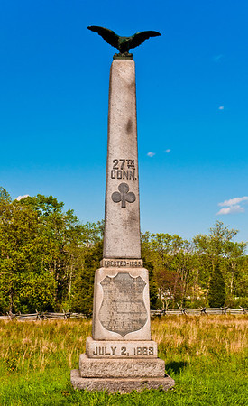 27th Connecticut Regiment Monument, Gettysburg National Military Park, PA