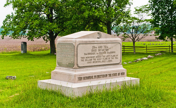 25th and 75th Ohio Infantry Monument, Gettysburg National Military Park, PA