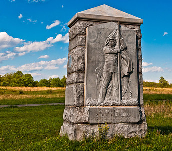 4th Michigan Infantry Monument, Gettysburg National Military Park, PA