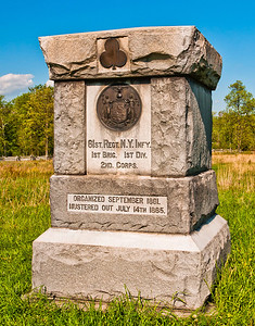 61st Regiment New York Infantry Monument, Gettysburg National Military Park, PA