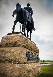 General Meade looks across the battlefield at General Lee in the distance