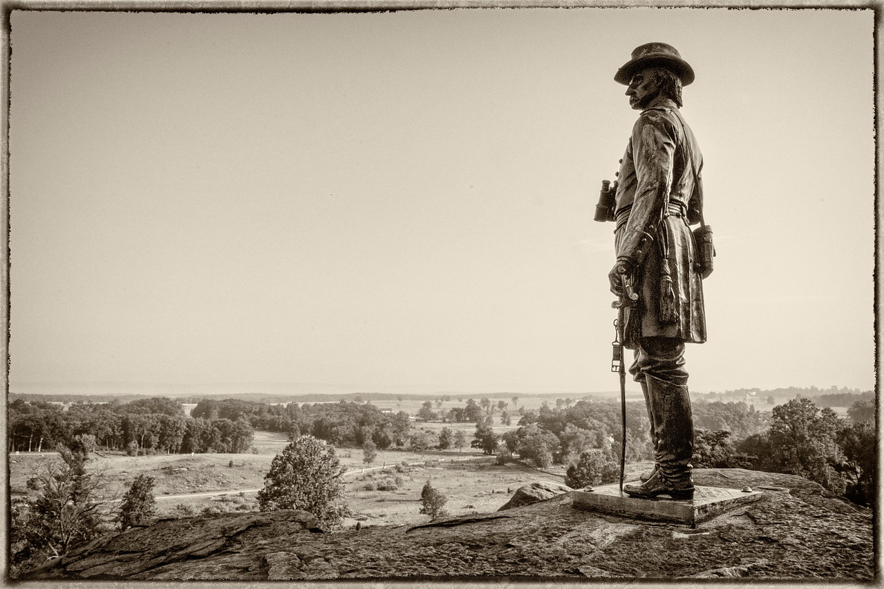 'Surveying the Ground' - Little Round Top - Gettysburg National Battlefield Park - Gettysburg, PA