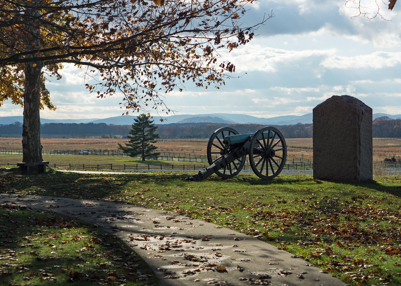 Union cannon on Cemetery Ridge.