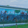 Left side of Coster Avenue Mural