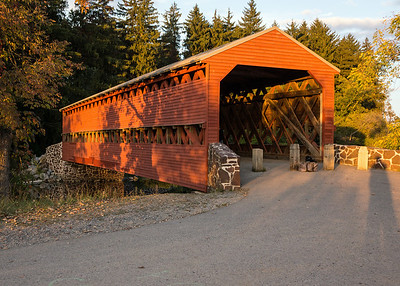 Sachs Covered Bridge: this 100-foot long span, built over Marsh Creek in 1854, was used by Union and Confederate troops before, during and after the battle of Gettysburg.  Retreating Confederates crossed it for a final time on the rainy night of July 4, 1863, when they made their way back to Maryland and Virginia following the Civil War's most terrible battle.  The bridge was put on the National Register of Historic Places in 1980.