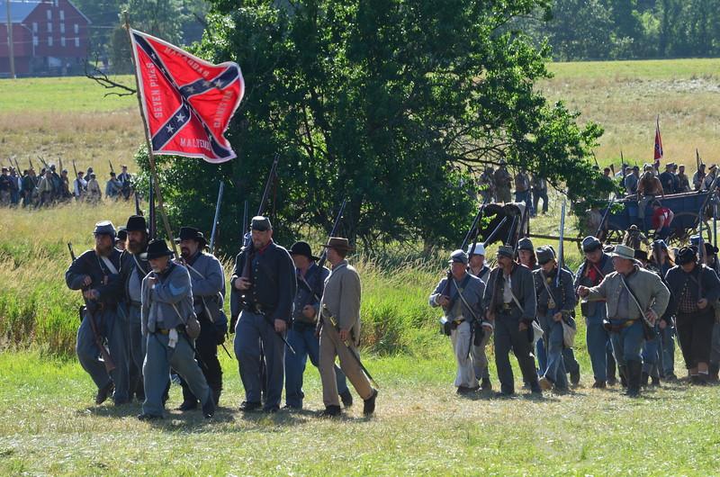 South Confederate Civil War Battalion Soldiers Picture