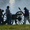 Cannon Gun Firing Confederate Civil War  Soldiers Picture