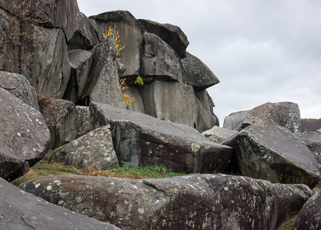 Changing Hands: Union forces occupied Devil's Den on day one of the battle.  Confederates from Texas, Alabama and Georgia drove them away by evening, and thereafter used the boulders as cover for sharpshooters taking aim at Federal troops on Little Round Top.