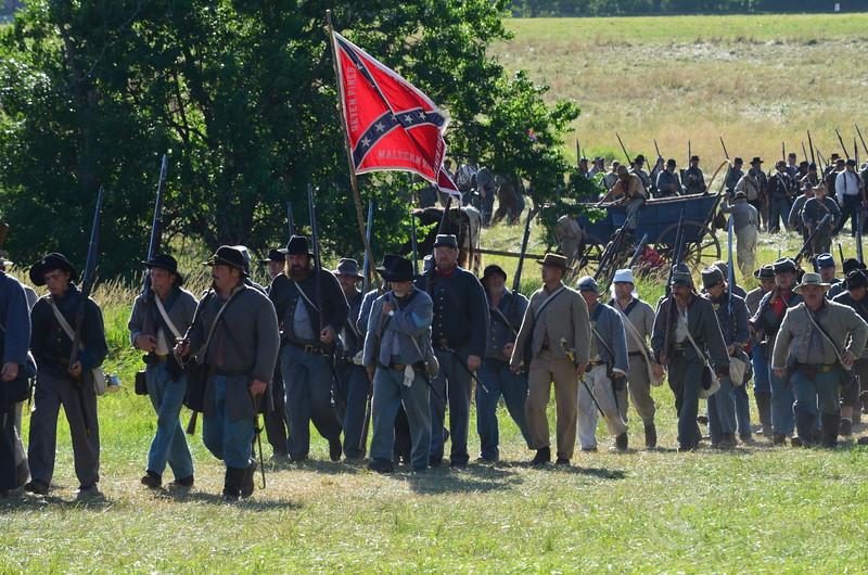 South Confederate Civil War Battalion Soldiers