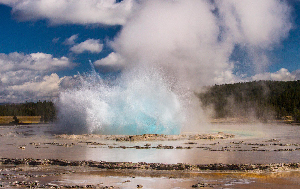 Blue Bubble, Great Fountain Geyser, Yellowstone National Park