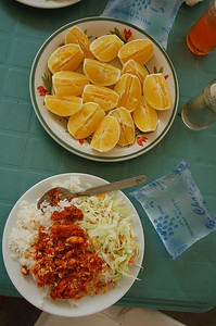 And sometimes we had oranges with our meal.