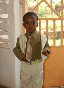 Mr. Pius on his way to church.