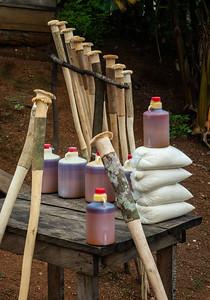 Palm Oil/Pestles/Cassava flour for sale on roadside