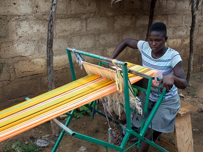 Weaving Kente Cloth
