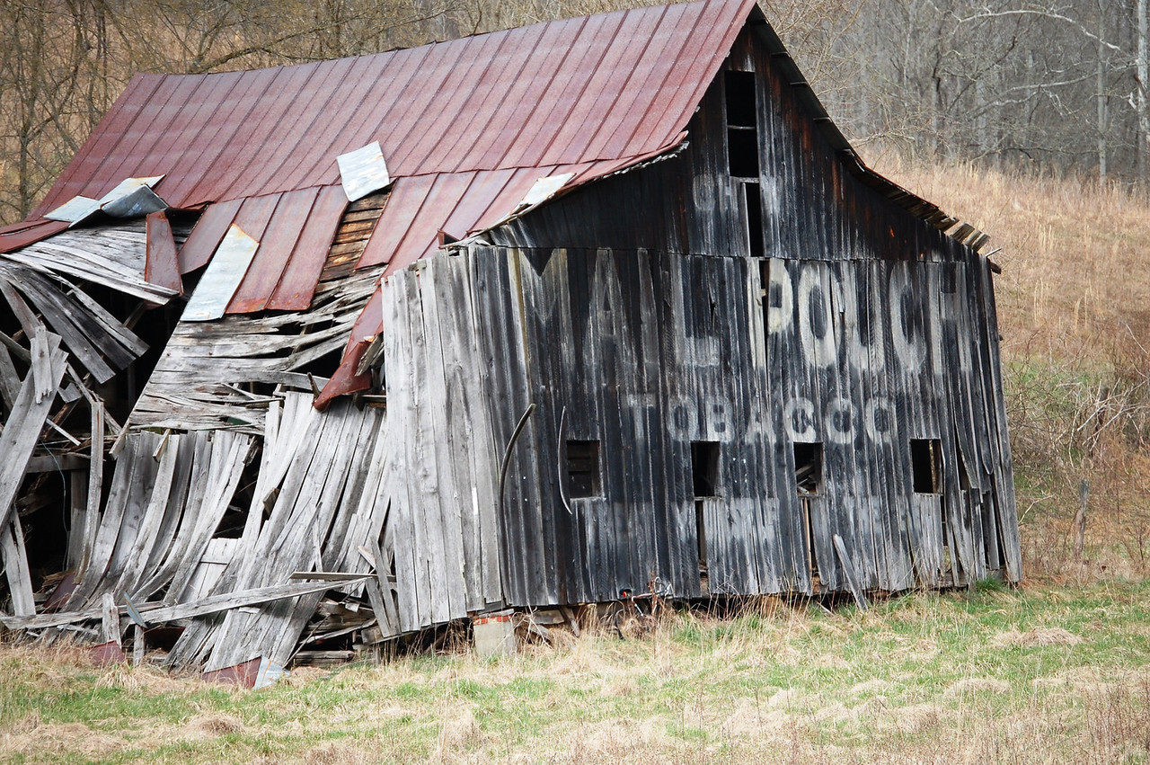 Old Mail Pouch Ghost Sign on Barn in Tornado, WV