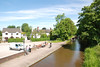 The Plume of Feathers Pub is just to the left and Barlaston is about 20yrds away to the right <br /> <br /> This shot taken from the road bridge shows the Trent and Mersey Canal looking towards Wedgwood. <br /> <br /> If you do this move the way i did it once you have done Barlaston it easier to walk along the canal tow path to Wedgwood station which is about 10 - 15 mins walk you just walk in the direction of the shot until you get to the next road over bridge then you go onto the main road turn right and Wedgwood is about 20 - 30 yrds up the road