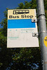 The very faded bus stop sign. I mainly took this because we are both so used to leaving some Ghost Stations by buses and most parts of the country the bus numbers are usually on the signs but not here you have been warned and also there was no Timetable on the post either you have been warned