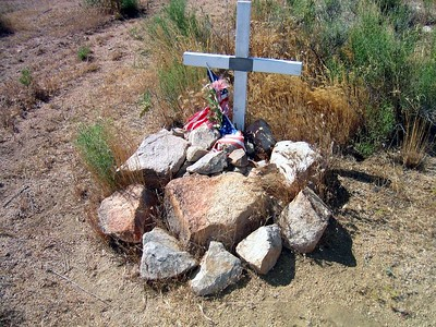 Memorial for Maj. Cross who died in this tragic accident.