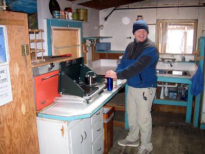 Dan at the Briggs Cabin.