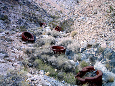 More mining equipment that has made it's way down Slage Canyon from the mines above.