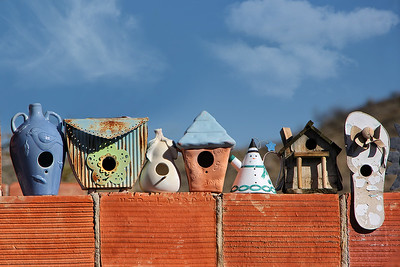 Ghost Town Birdhouses