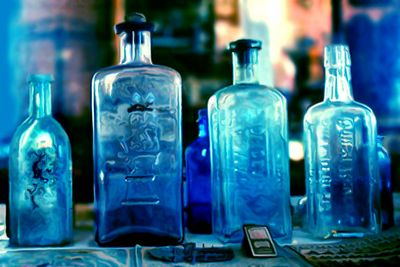 Blue Diffused Bottles