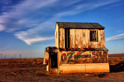 Oz Souveniers Sold Here I loved this old barn. It has since disappeared, Reclaimed by the Mojave I guess ...