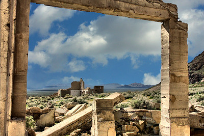 Rhyolite View Rhyolite Ghost Town Nevada