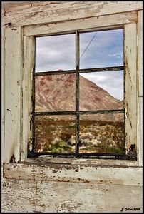Bullfrog Window #3 Rhyolite Nevada