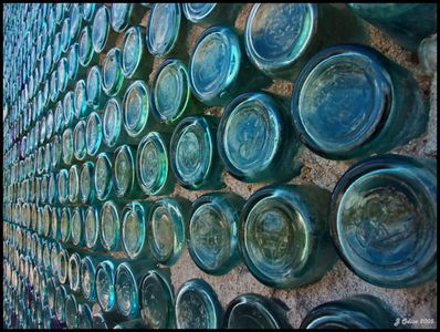 Bottle House Wall Rhyolite Nevada