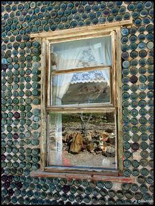 Bottle House Window Rhyolite Nevada