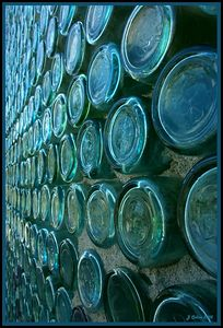 Bottle House Wall #2 Rhyolite