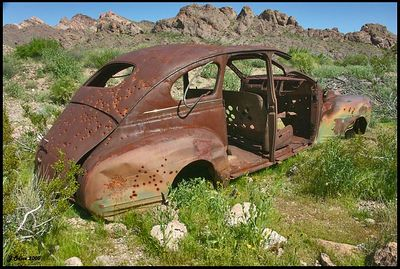 Rusty Car #4 Eldorado Mine  Nelson Nevada