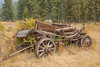 Old wagon at Elkhorn Ghost Town, Montana.
