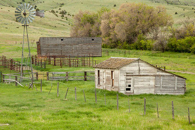 Old Ranch Buildings, West of Four Corners, Gallatin County