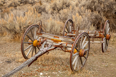 Wagon Frame, Bannack Ghost Town
