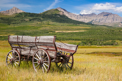 Old Wagon, Waterton Front, Alberta, Canada